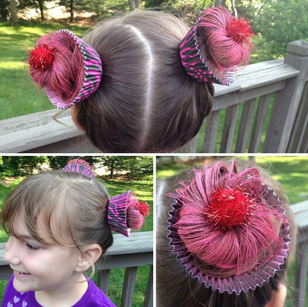 Необычные прически в День сумасшедших волос, США. Фото