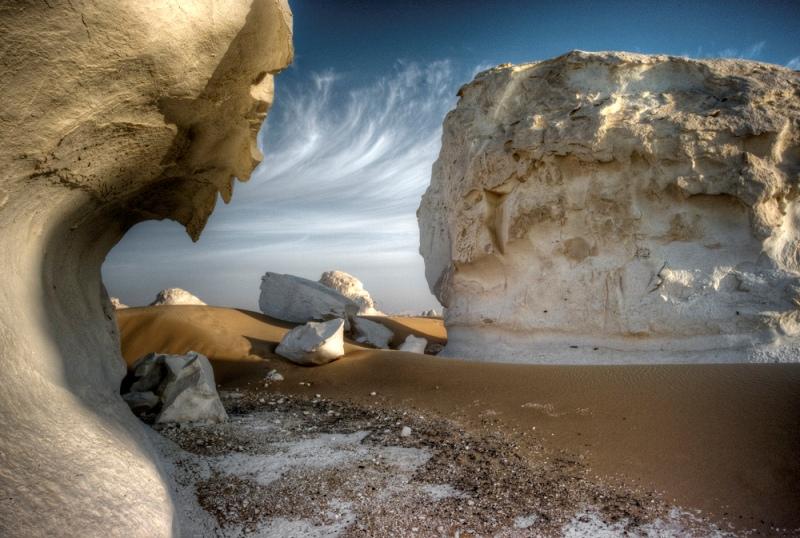 Белая пустыня в Египте. Красивое фото