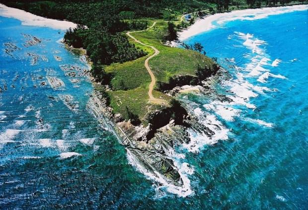 оконечность острова Борнео. Вид сверху. Фото