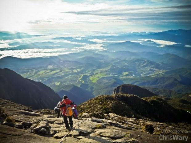 вид с горы острова Борнео. Фото