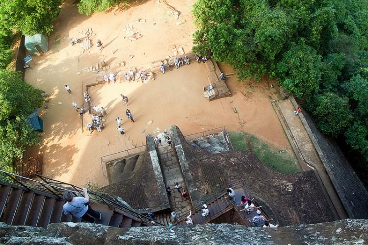Крепость-дворец Сигирия. Шри-Ланка. Вид с горы