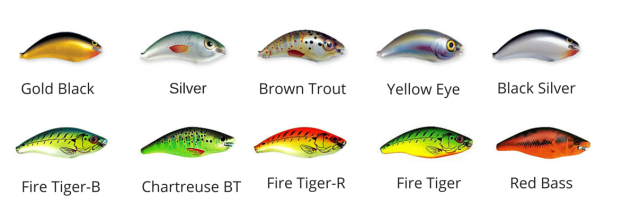 Ugly Duckling Color Chart 6 DR & 6 MR Shad