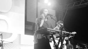 UP Dharma Down black and white