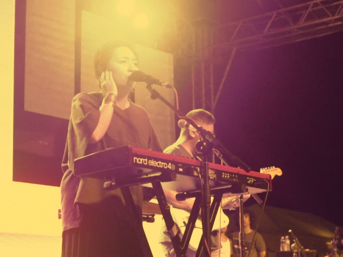 Up Dharma Down singing on stage