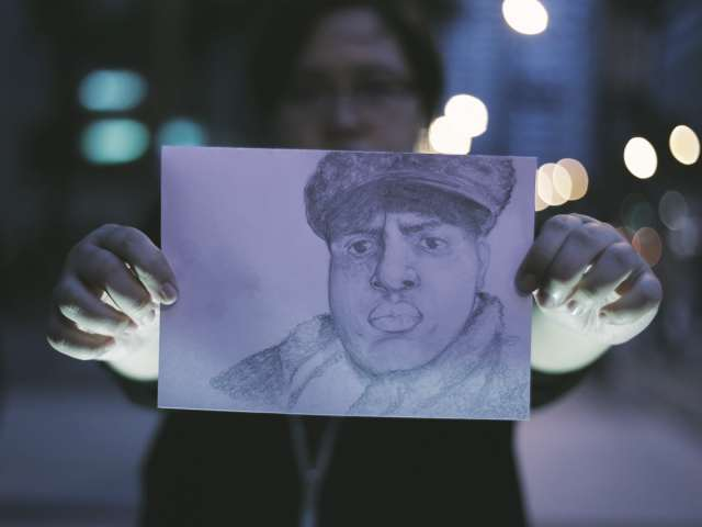 Drawing of Notorious BIG