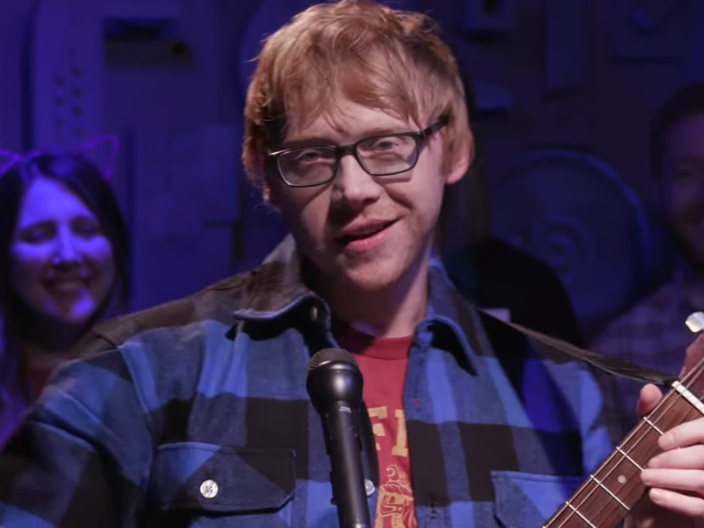 Rupert Grint impersonating Ed Sheeran