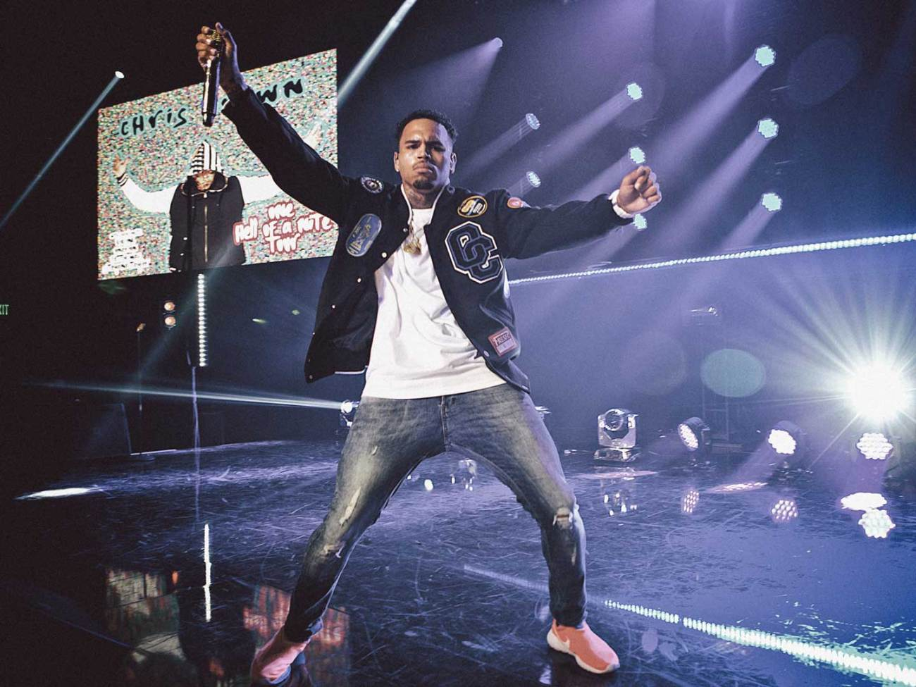 Chris Brown live at the iHeartRadio Live in Los Angeles