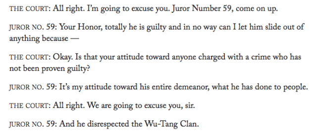 Juror No. 59 unhappy about Martin Shkreli's connection with the Wu-Tang Clan
