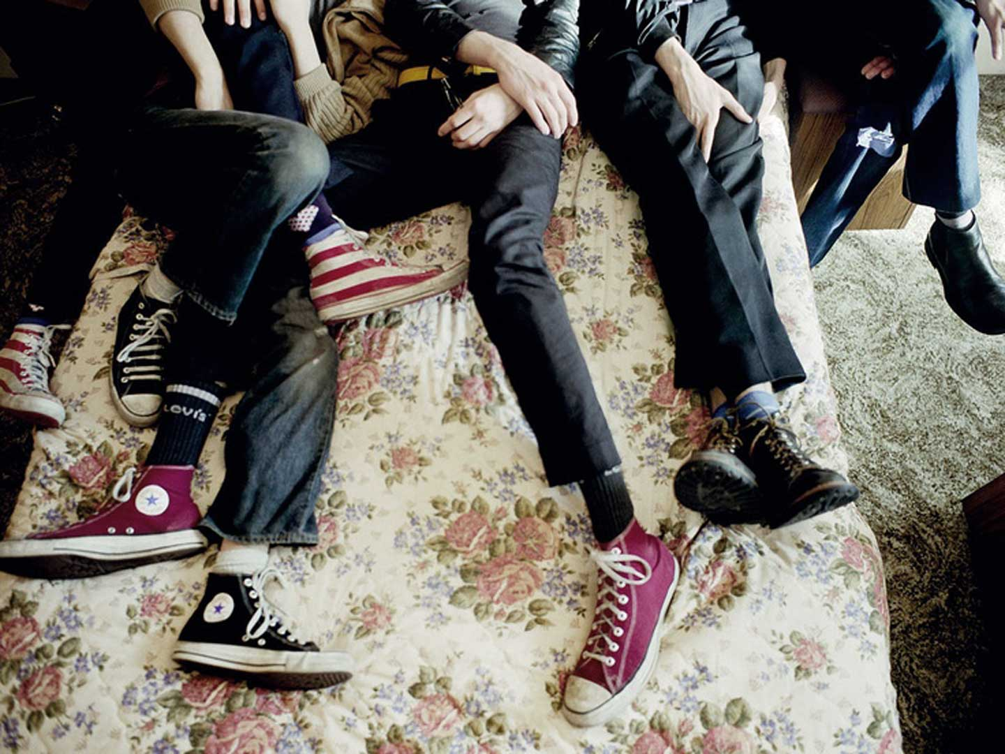 The Strokes wearing Chuck Taylors
