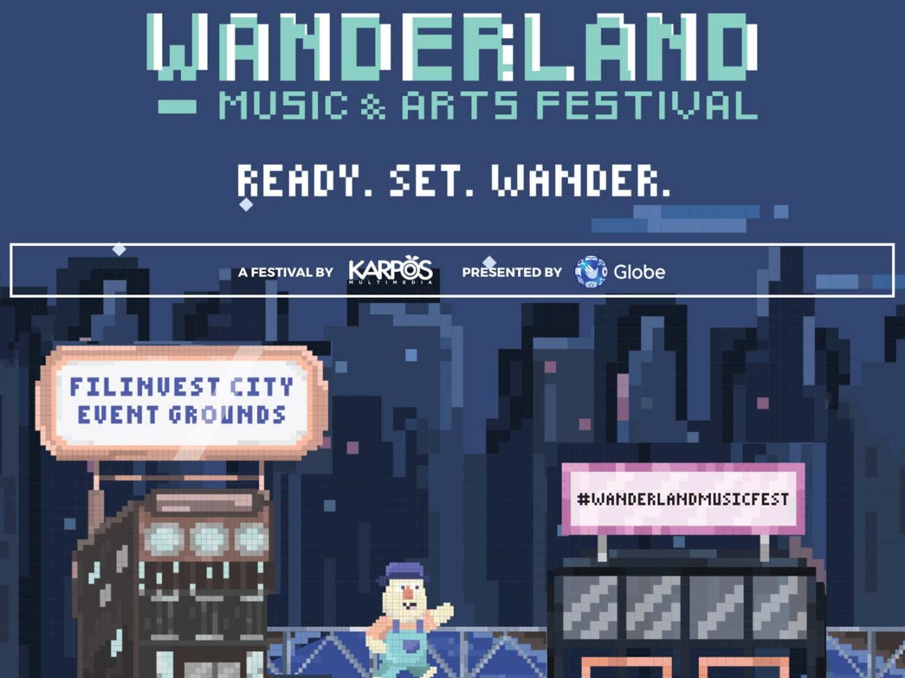 Website for Wanderland Music and Arts Festival 2018