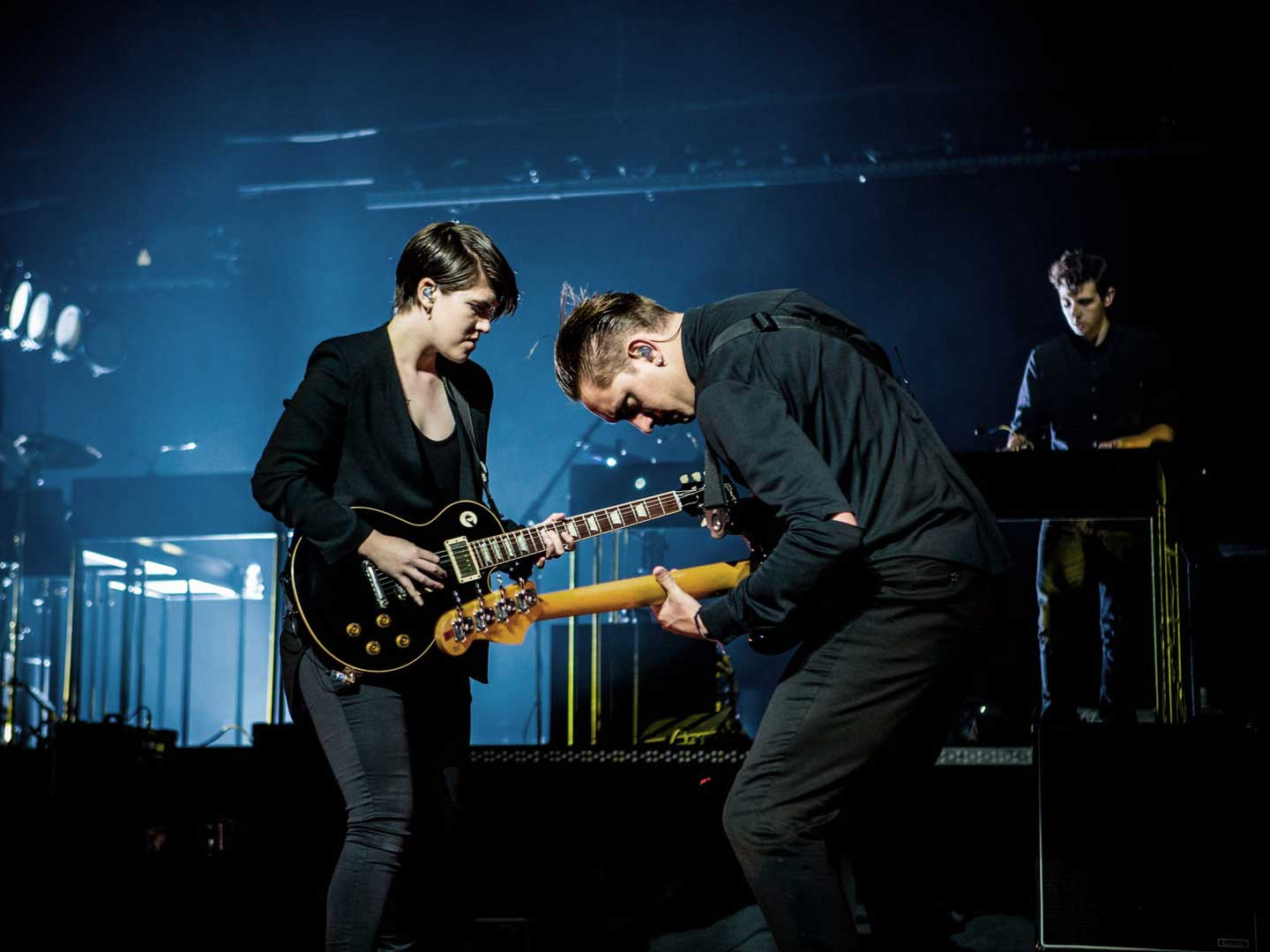 The xx performing live in Singapore