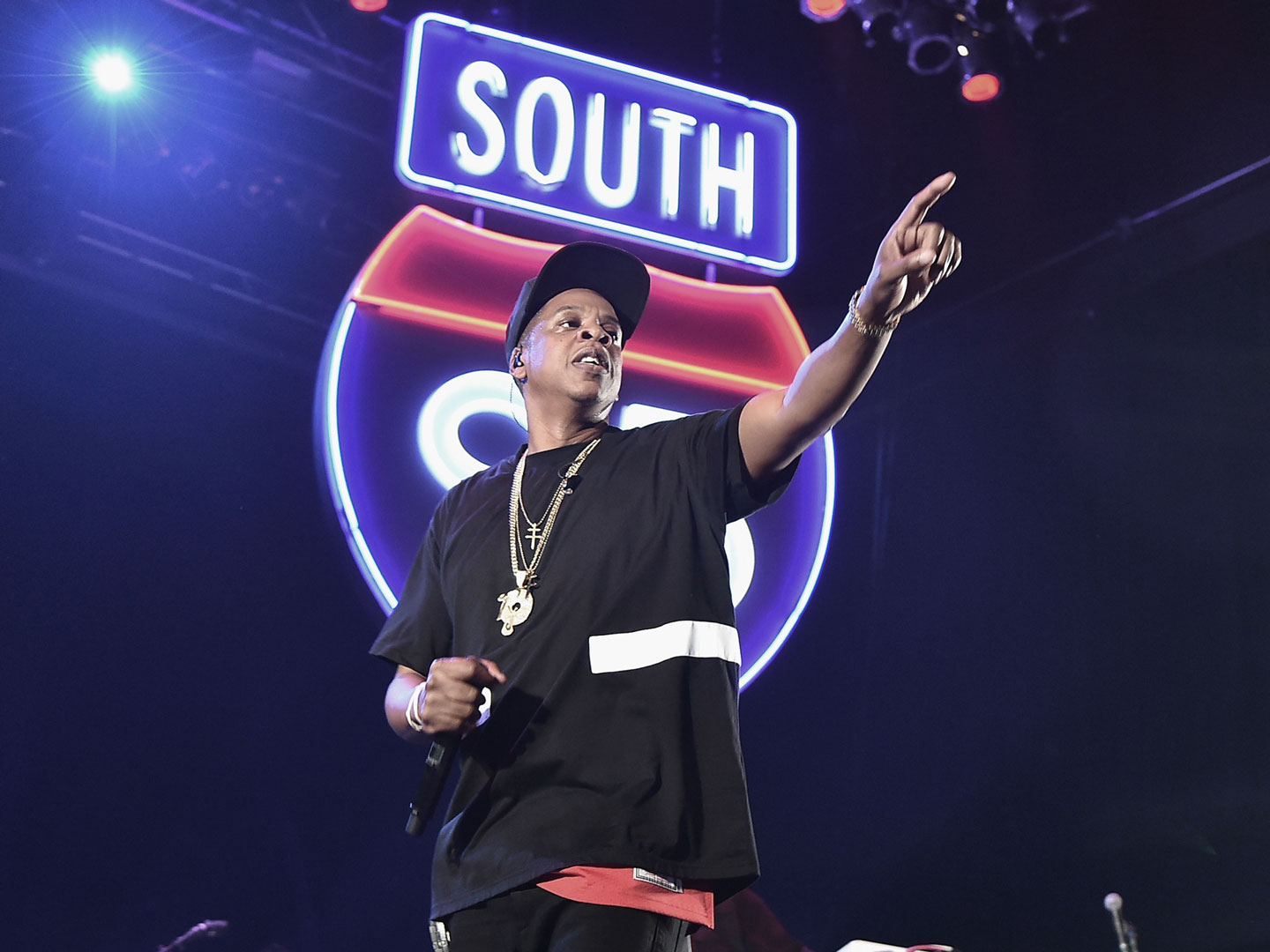 Jay-Z performing at TIDAL X in Brooklyn