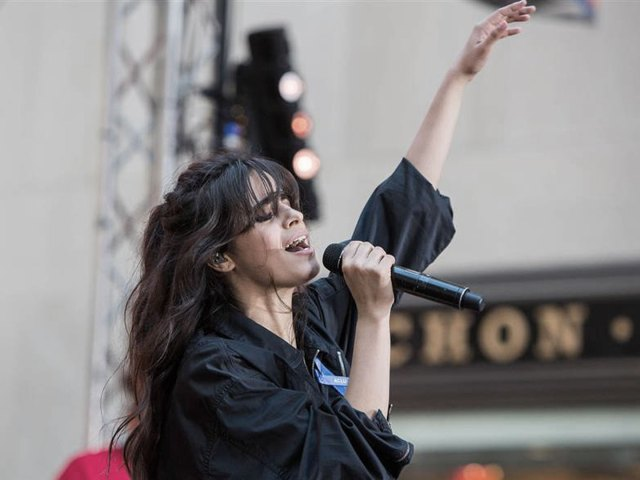 Camila Cabello performing Havana live on the TODAY plaza