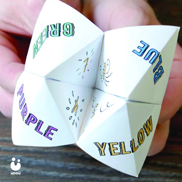 Paper fortune tellers origami