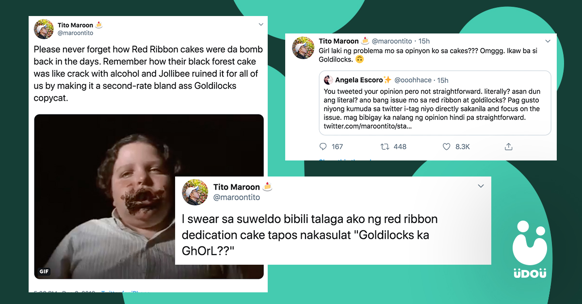 hilarious twitter exchange about cake
