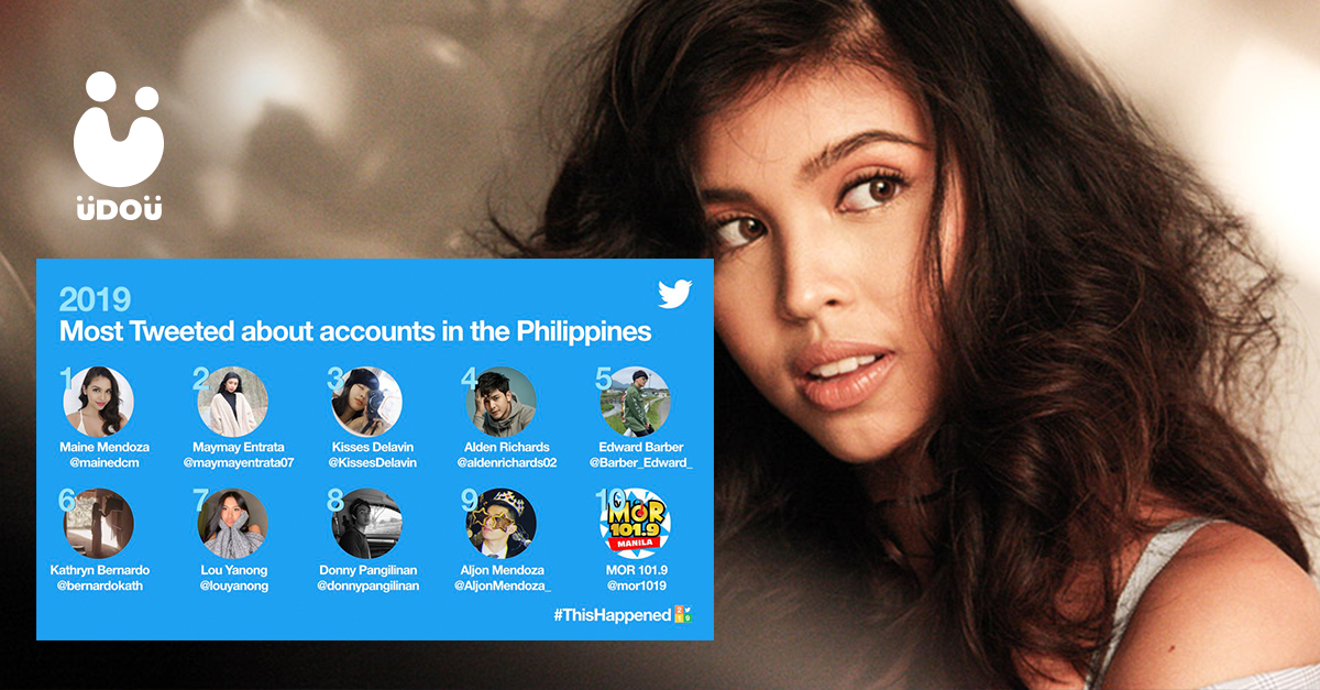 Maine Mendoza Most Tweeted About Account Twitter 2019 U Do U Header