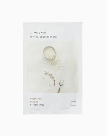 Innisfree My Real Squeeze Rice Mask - cheap effective face masks philippines