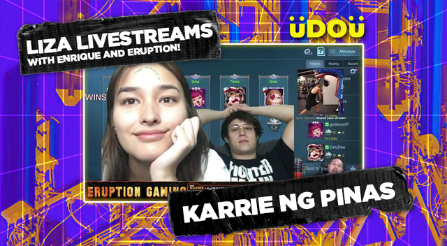 Liza Soberano Enrique Gil Eruption Mobile Legends Stream