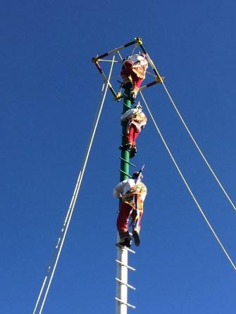 Local folk putting on an aerial show