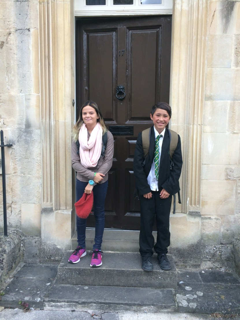 Amalia off to her first day of high school in Bath