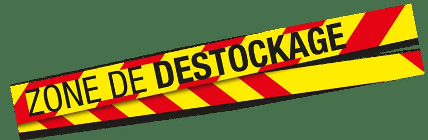 Bannière zone de destockage
