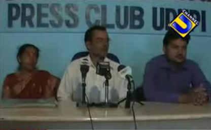 B.V.Seetharam's blackmail victim Bhojaraja Shetty speaks in a Press Conference in Udupi