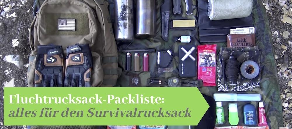 Fluchtrucksack Packliste Inhalte Inkl Pdf Alle Gegenstände