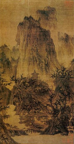 伝李成 『晴欒蕭寺図』 Nelson-Atkins_museum_of_art