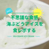 不思議な食感の海ぶどうアイス食レポする