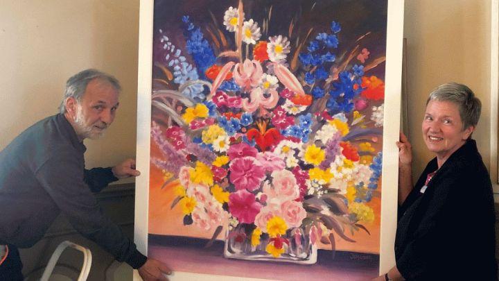 Gemälde von Brigitte Jerosch-Dürfeldt schmückt Trauzimmer im Rathaus