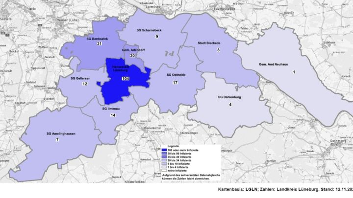 Corona-Update: Heute 14 neue Fälle im Landkreis Lüneburg