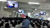 Our auditorium is a huge one and can accommodate 1200 students at a time. It is fitted with 20 LCDs