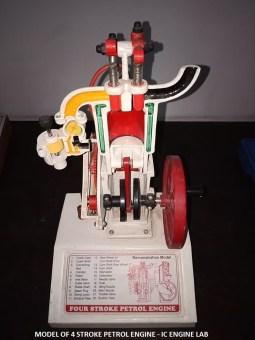 Model of 4 stroke Petrol Engine