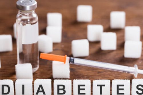 The Word Diabetes With Insulin And Syringe