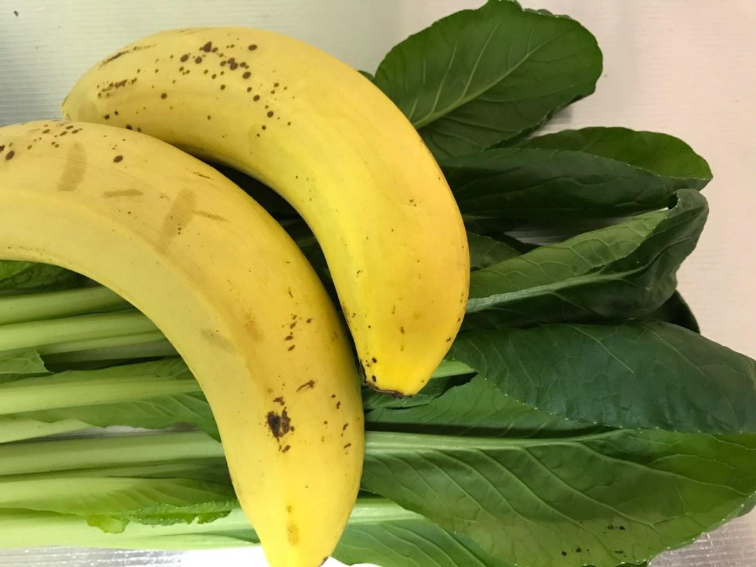 今日のスムージー 2017.05.23. 小松菜とバナナにオレンジジュースのスムージー