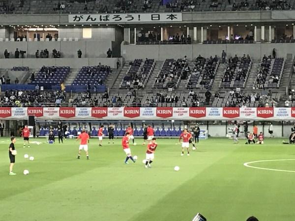 日本代表の練習