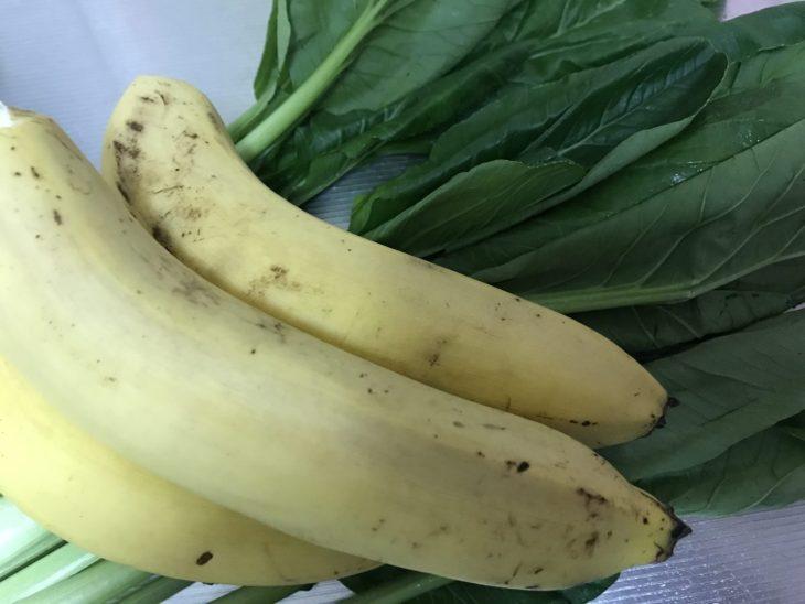 今日のスムージー 2017.09.19. 今日も定番の小松菜とバナナのスムージー