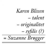 Uetisk Råds forskere har udarbejdet dette regnestykke over Suzanne Brøggers perzon.