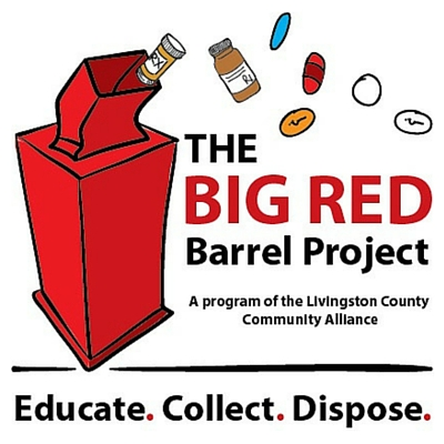 the big red barrel project of livingston county logo