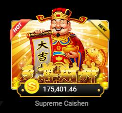 Supreme Caishen จากค่าย Joker สล็อต เริ่มเดิมพันที่ 2.5 บาท โลโก้