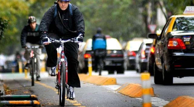 Ciclistas en Santiago