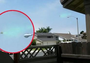 UFO Spraying Green Mist California