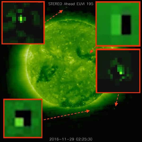 ufos sucking energy from the sun 1