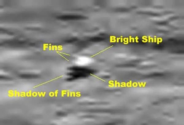 ship on moon surface