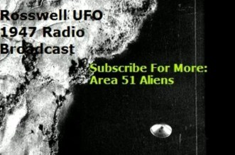 Roswell UFO Radio News Report 1947
