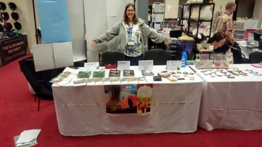 Our table at the start of the expo on Saturday