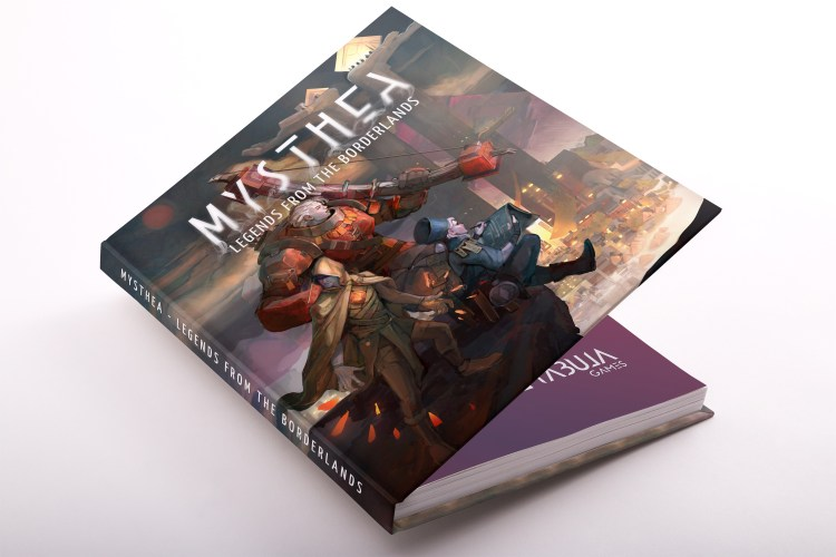 Mockup of the book of Mysthea: Legends From the Borderlands