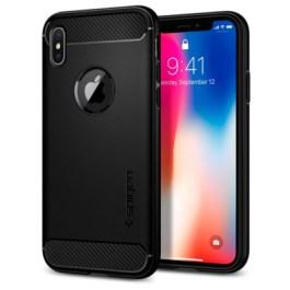 Spigen iPhone X Rugged Armor – Matte Black 057CS22125