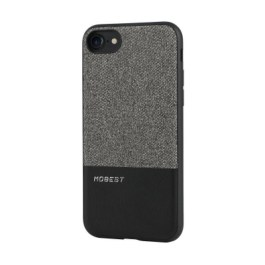 Mobest Design Atman Series Canvas/PU Leather Splicing for iP7 – Grey