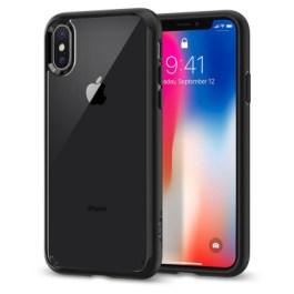 Spigen iPhone X Ultra Hybrid – Matte Black 057CS22129